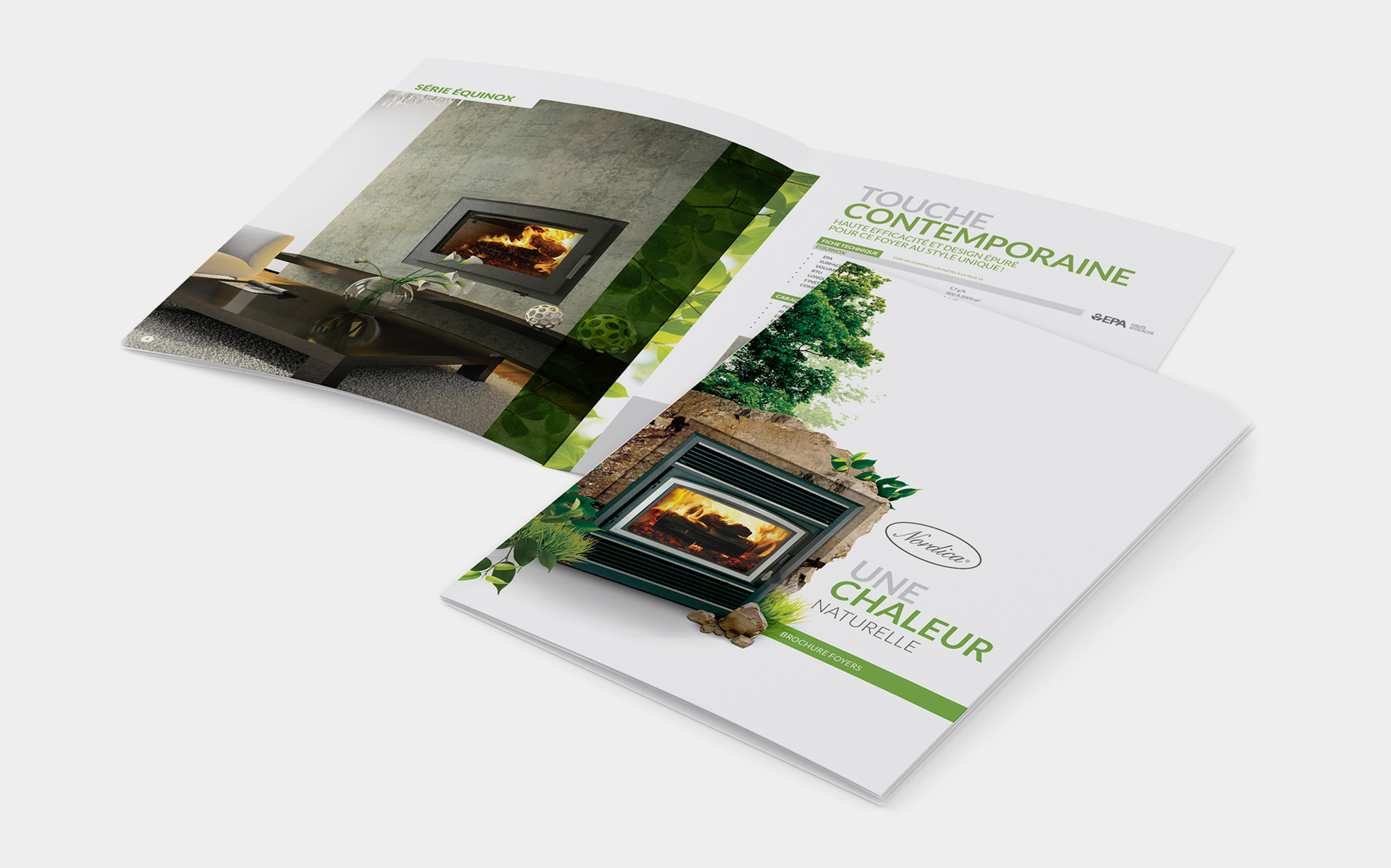 Warm and enticing brochures!